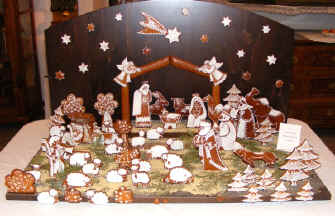 Karlstejn Nativity crib made from gingerbread
