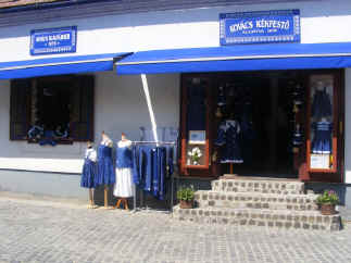 Traditional Papa blue clothing shop